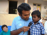 The District Collector with one of our kids