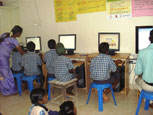 Children at Computer training classes
